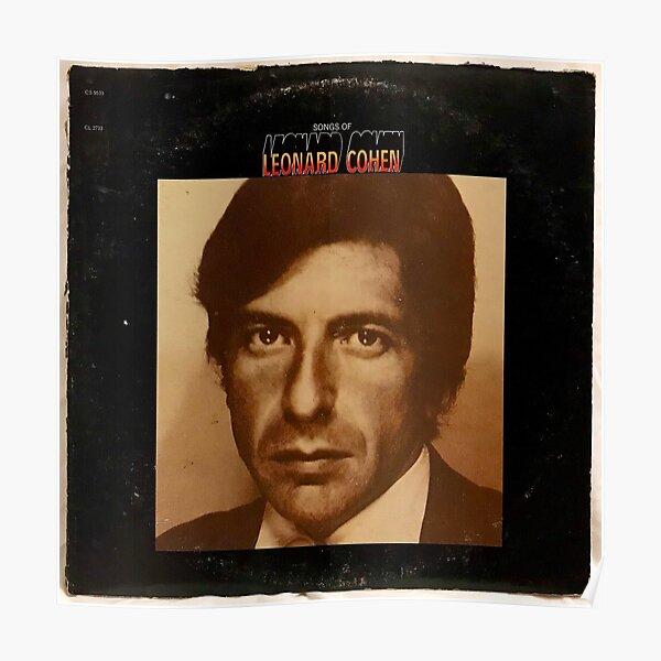 Leonard Cohen 10 Singer Poster Music Soft Rock Star Photo Black White Tribute