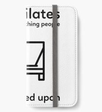 Fun and clever Pilates design iPhone Wallet/Case/Skin
