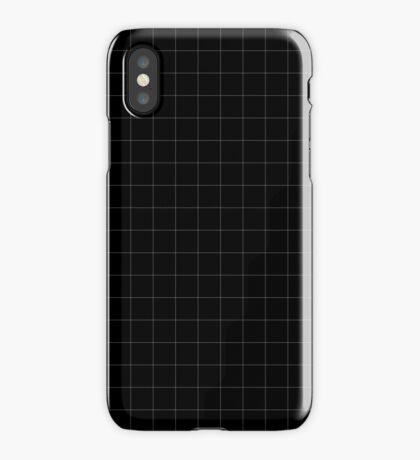 White Grid iPhone Case