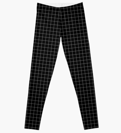 White Grid Leggings