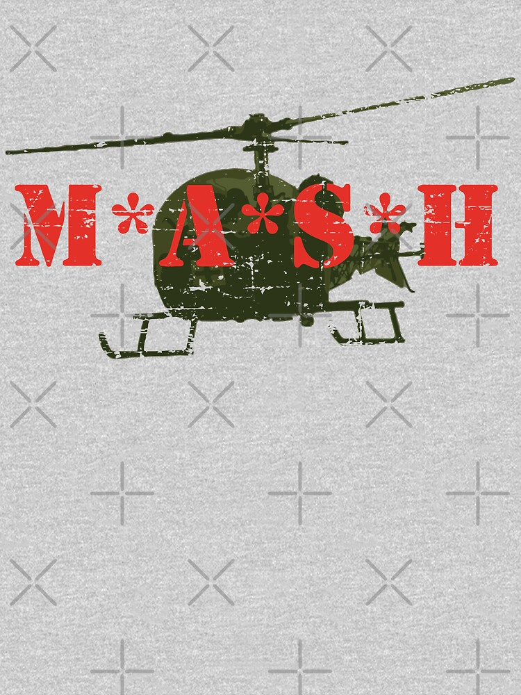 Mash Helicopter Distressed Retro Vintage TV by PunkSpaceWars