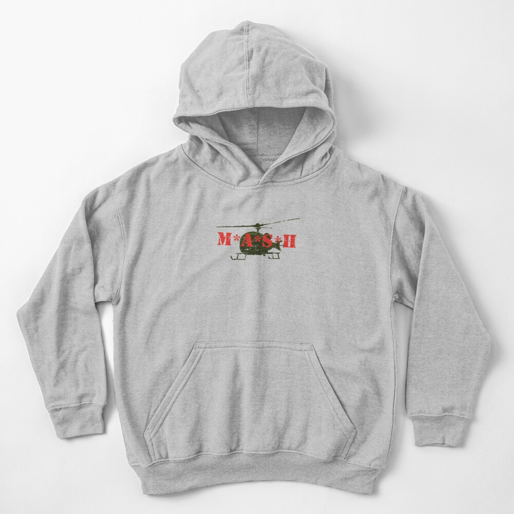 Mash Helicopter Distressed Retro Vintage TV Kids Pullover Hoodie