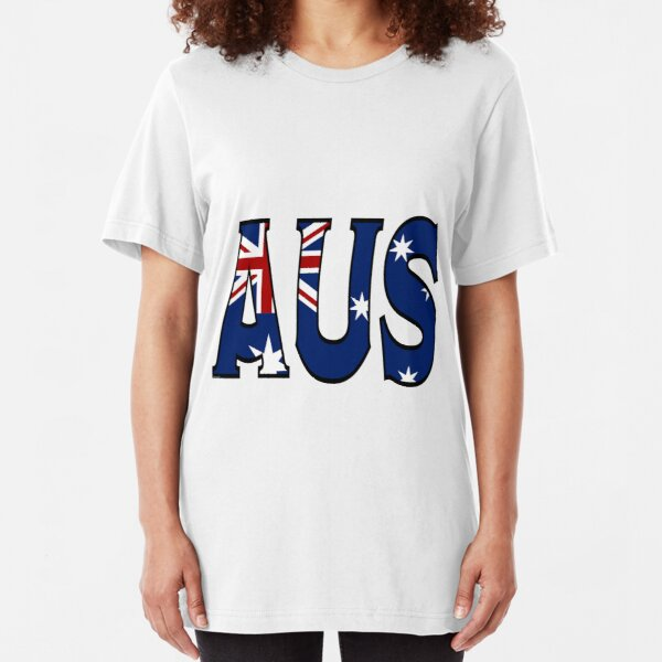 Abbreviated Australia Flag Slim Fit T-Shirt Unisex Tshirt