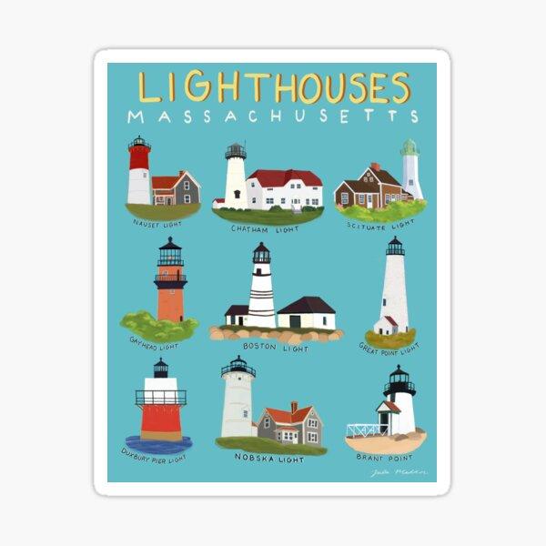 Lighthouses of Massachusetts Sticker