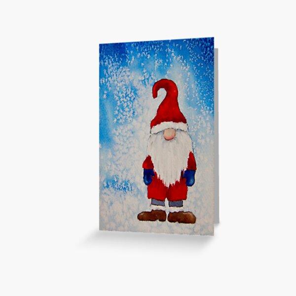 Weihnachtsgnom Grußkarte