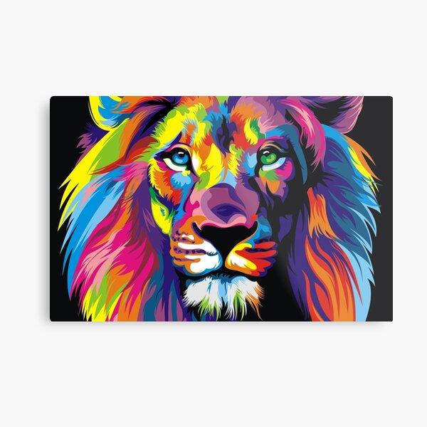 Banksy Rainbow Lion Graffiti Pop Art Painting Metal Print
