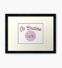 Go Braless Feminist Shirt Framed Print