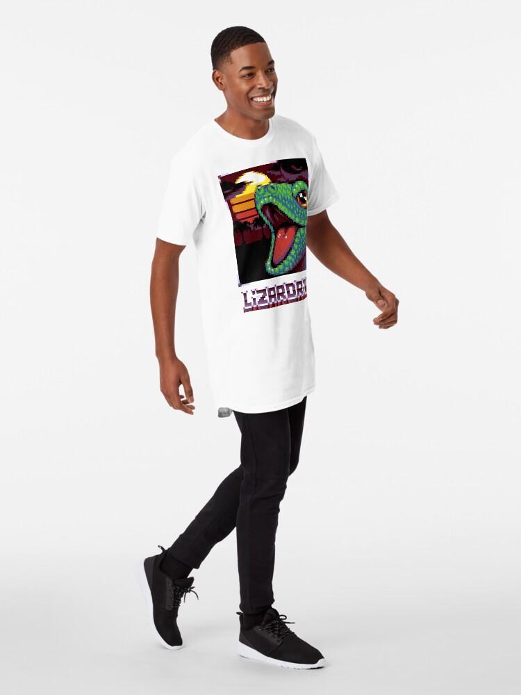 T-shirt long ''LIZARDRIVE': autre vue