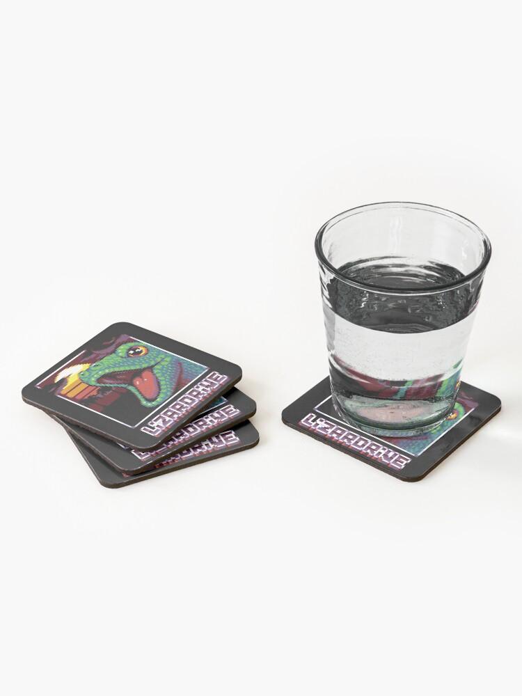 Dessous de verre (lot de 4) ''LIZARDRIVE': autre vue