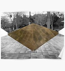 Tetrahedral Reflection Poster