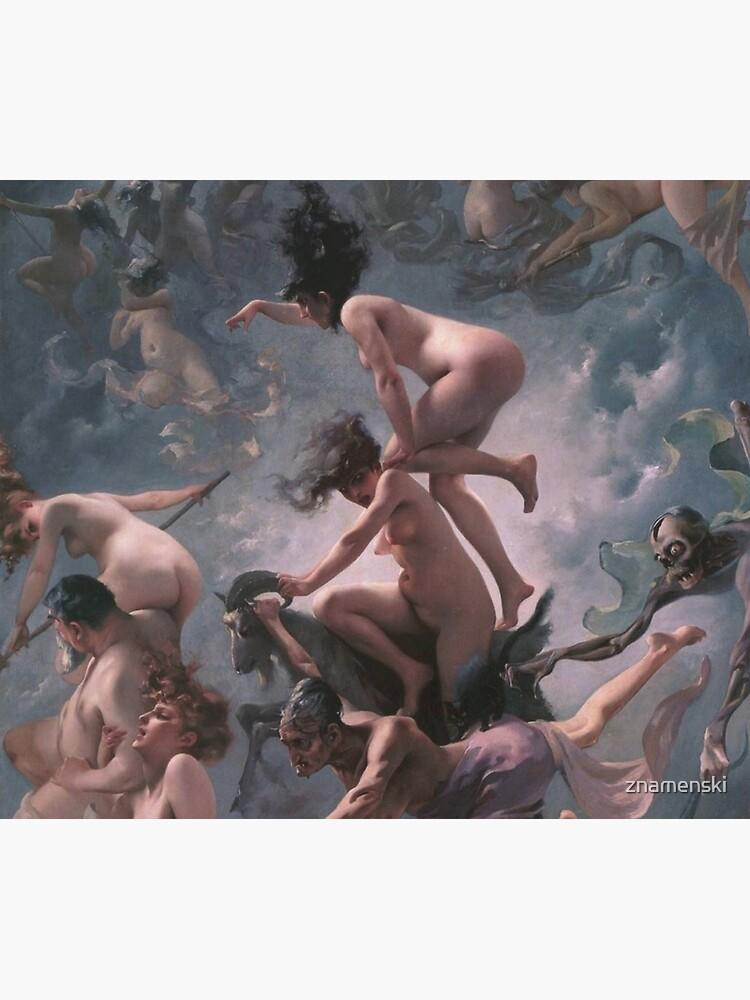Luis Ricardo Falero - Witches going to their Sabbath (1878) by znamenski