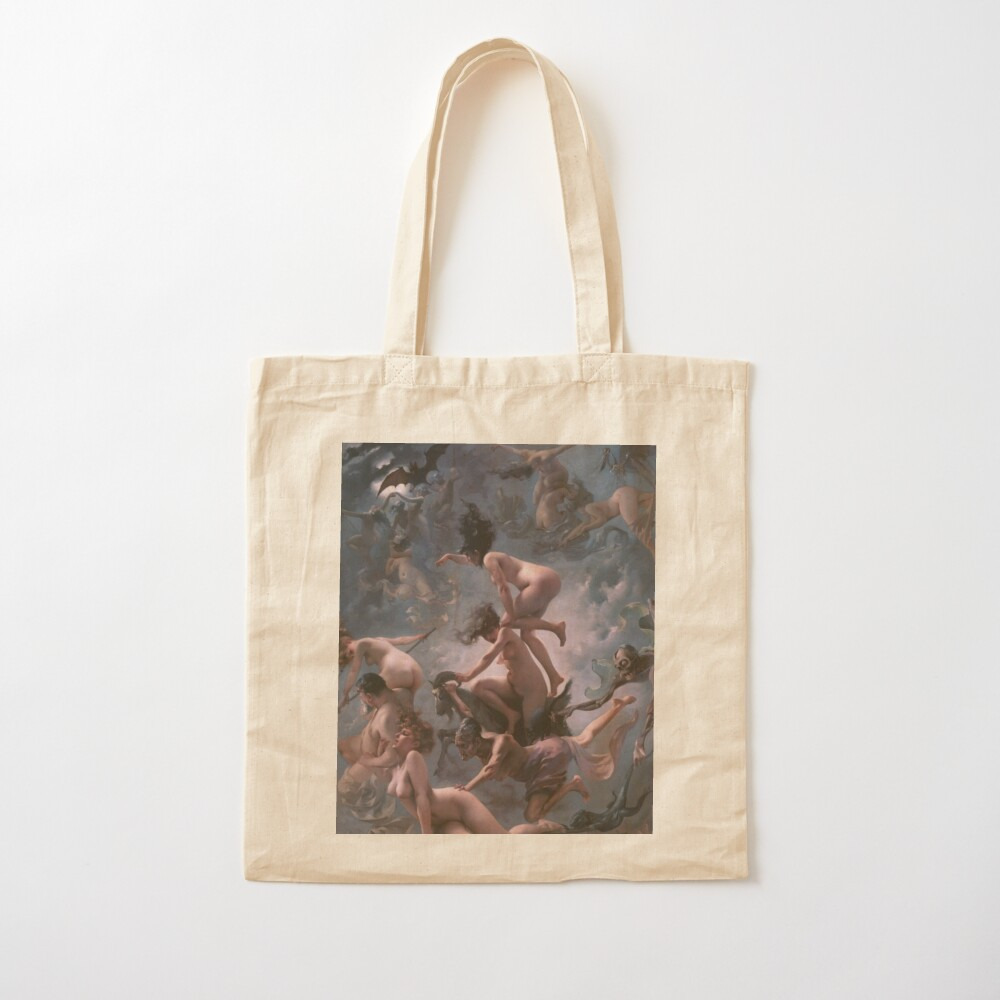 Witches Going To Their Sabbath,  ssrco,tote,cotton,canvas_creme,flatlay,square,1000x1000-bg,f8f8f8