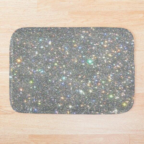 Silver Sparkle Glitter Design Bath Mat