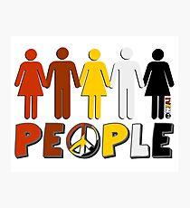 People 4 WORLD PEACE Photographic Print