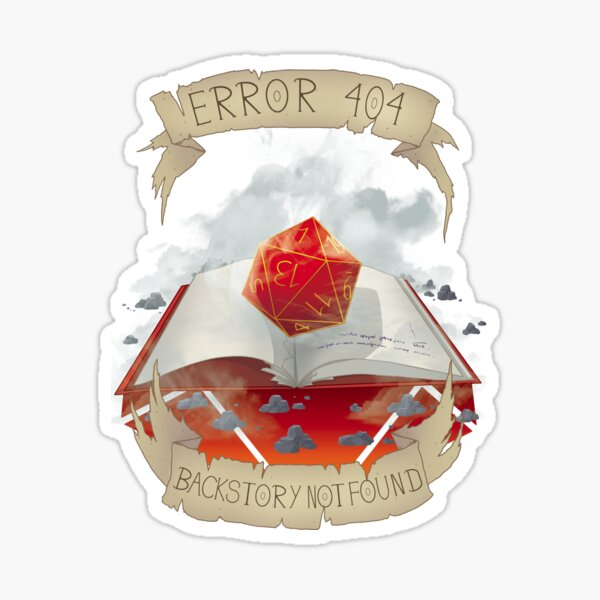 Critical Fail - Error 404 Sticker