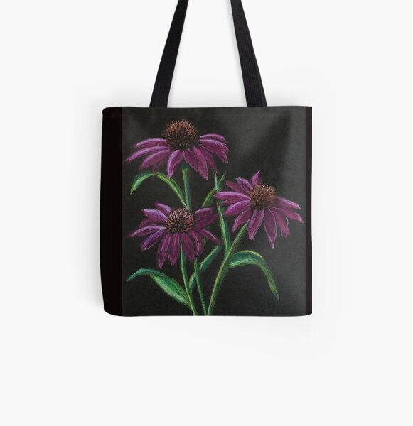 Coneflowers All Over Print Tote Bag