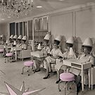 Beauty Day vintage sepia hair salon photo by Glimmersmith
