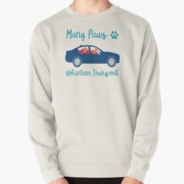 Many Paws Volunteer Transport - Rescue Transport Group Pullover Sweatshirt