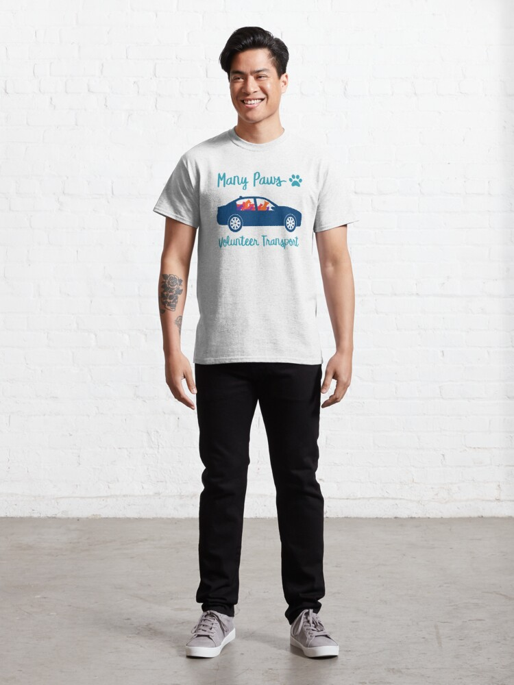 Alternate view of Many Paws Volunteer Transport - Rescue Transport Group Classic T-Shirt