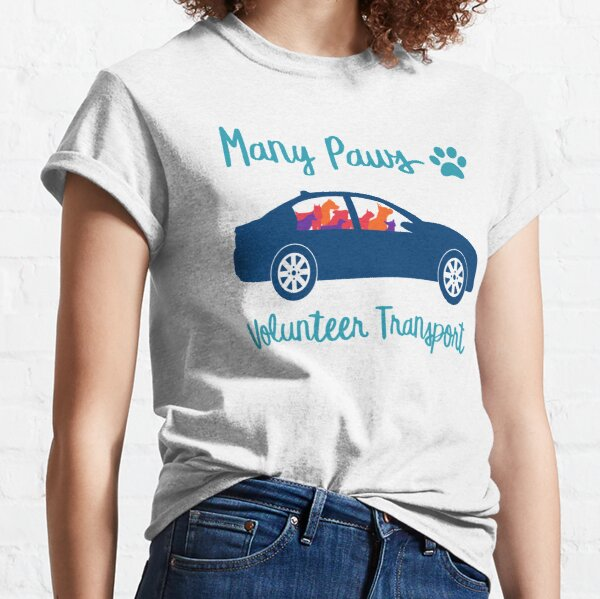 Many Paws Volunteer Transport - Rescue Transport Group Classic T-Shirt