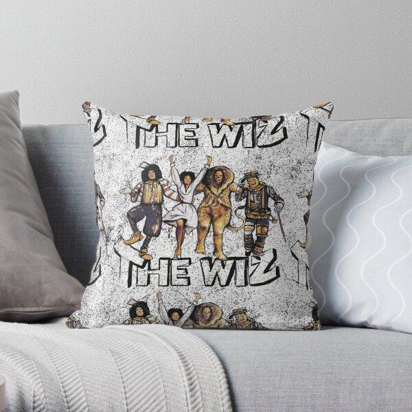Grungy Wiz Throw Pillow