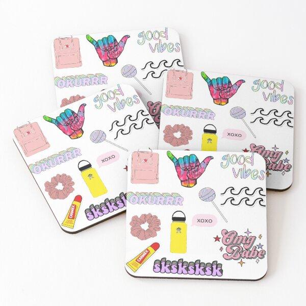 VSCO girls starter pack 5 Coasters (Set of 4)