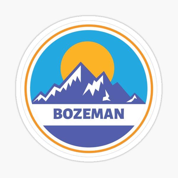 Bozeman Montana Oval Vinyl Decal Sticker City Town College University