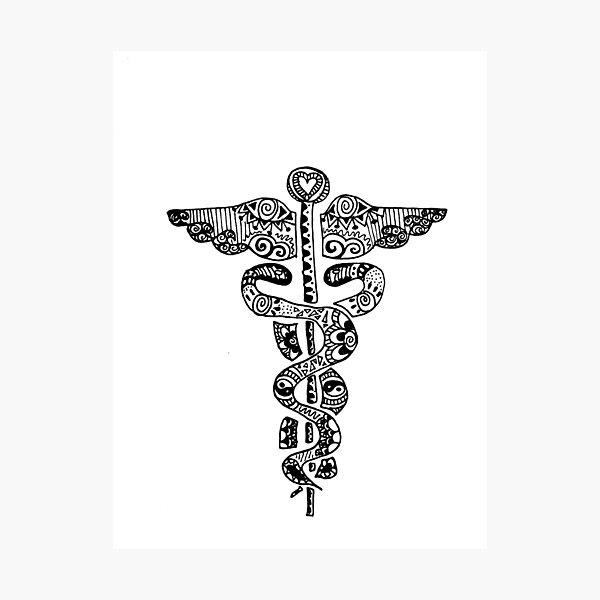 Registered Nurse Zentangle Photographic Print