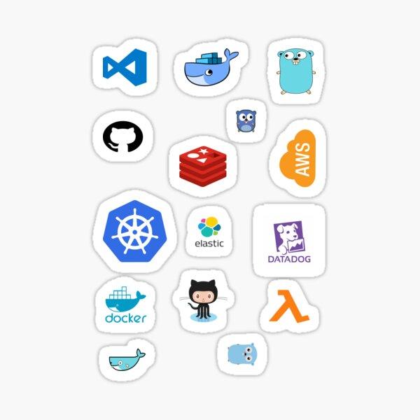 Etiquetas engomadas de la pila de desarrolladores de Golang Pegatina