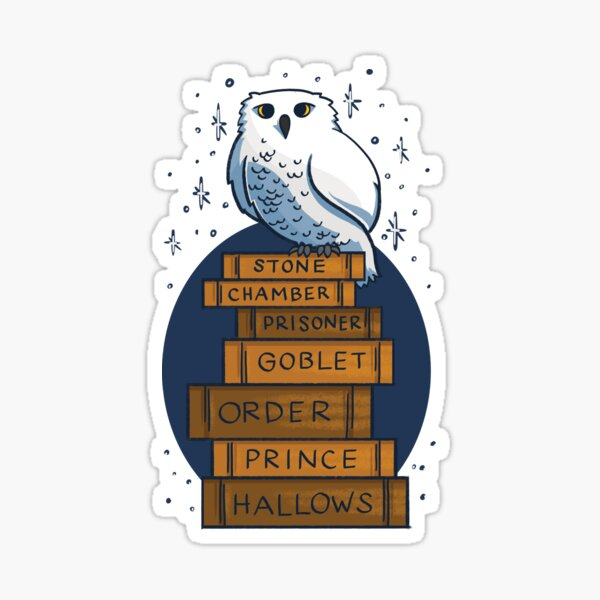 An Owl with the Books Sticker