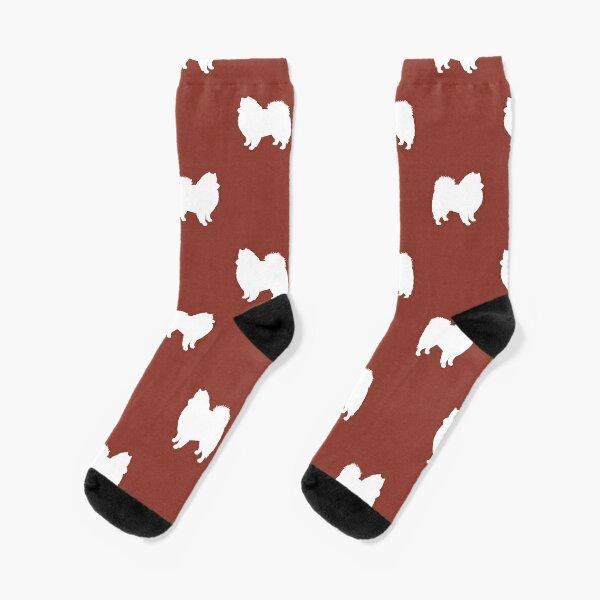 American Eskimo Dog Silhouette(s) Eskie Socks