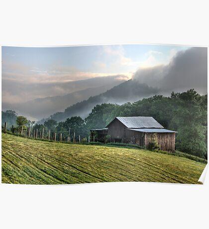 Morning Light and Fog Poster