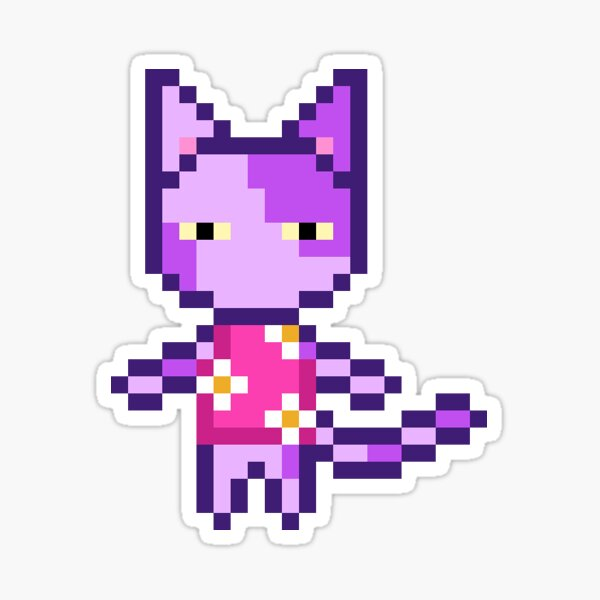 Goldie Animal Crossing Pixel Art Sticker By Mountainduet Redbubble