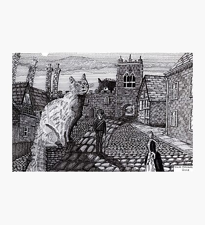 216 - TOBY AND TABATHA IN THE TINY CITY - DAVE EDWARDS - INK - 2008 Photographic Print