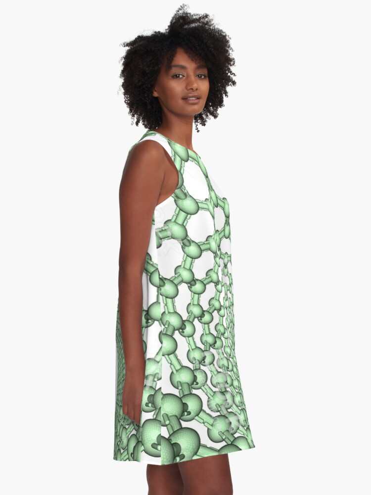 Alternate view of Thanks for watching science, Carbon nanotube A-Line Dress