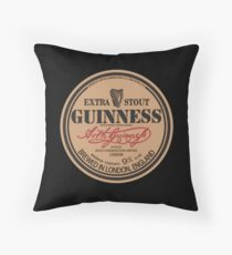 Old Style Guinness Logo - David Gilmour Throw Pillow