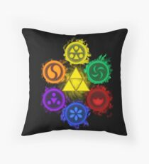 Legend of Zelda - Ocarina of Time - The 6 Sages Throw Pillow