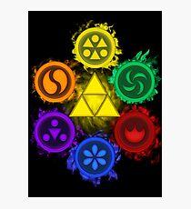 Lámina fotográfica Leyenda de Zelda - Ocarina of Time - Los 6 sabios