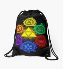 Legend of Zelda - Ocarina of Time - The 6 Sages Drawstring Bag