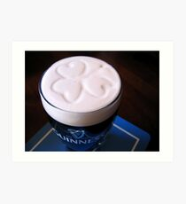 How Guinness should be served... Art Print