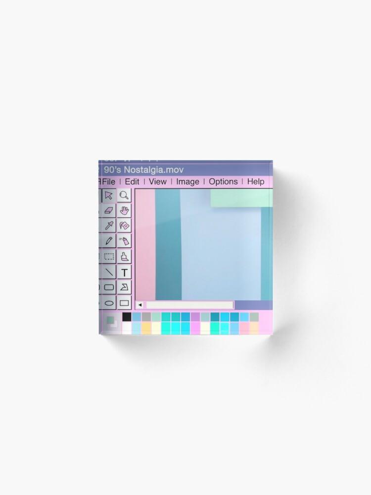 Alternate view of 90s Nostalgia Acrylic Block