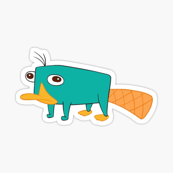perry the platypus sticker phineas and ferb agent p  Sticker