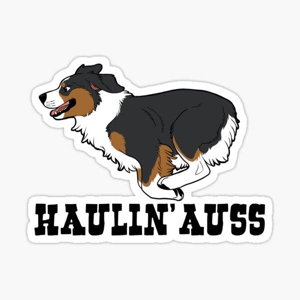 HAULIN' AUSS (black tri) Sticker