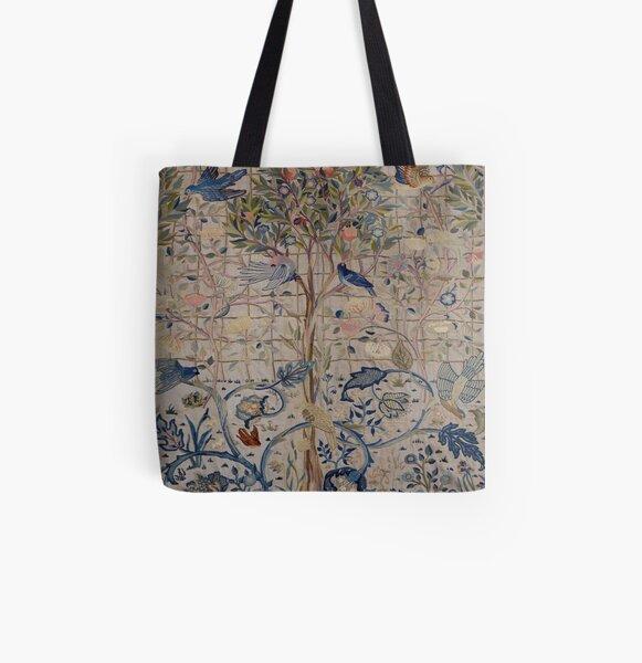William Morris Kelmscott Trellis Embroidery All Over Print Tote Bag