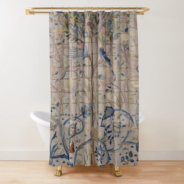 William Morris Kelmscott Trellis Embroidery Shower Curtain