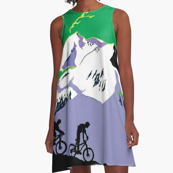 TOUR DE FRANCE : Modern Abstract Advertising Print A-Line Dress