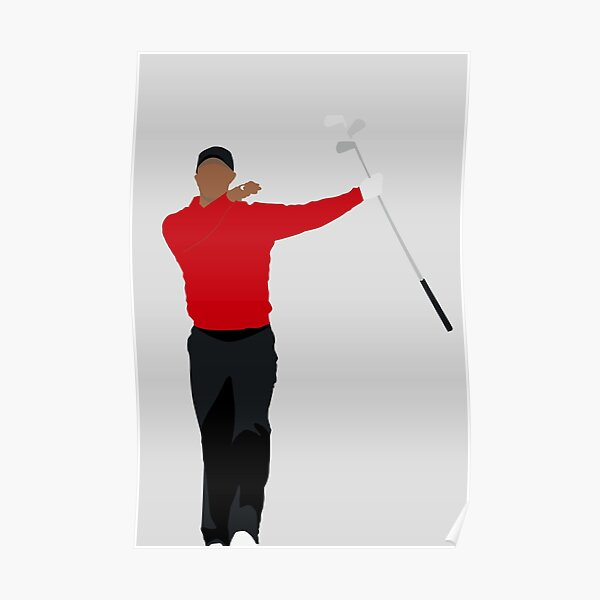 CLUB TWIRL TIGER WOODS | BEST SUNDAY RED GOLFER | GOLF GIFT Poster