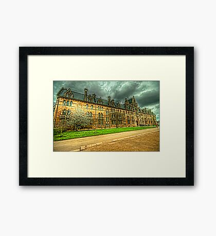 The Meadow Building Christ Church Oxford Framed Print