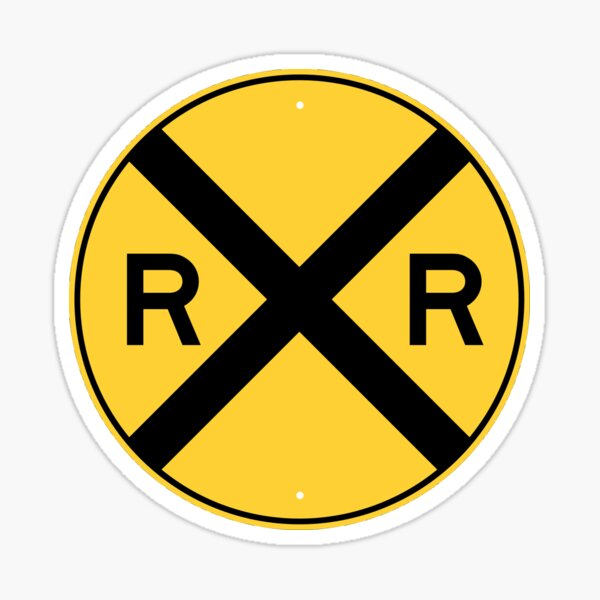 Railroad Xing Sign (new) Sticker