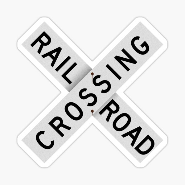 Railroad Xing Sign (classic) Sticker